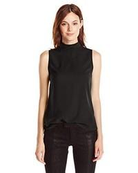 schwarzes T-shirt von French Connection