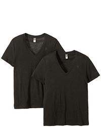 schwarzes T-shirt von G-Star RAW