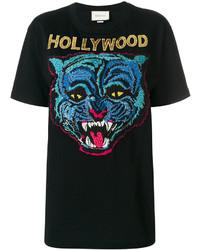 schwarzes T-shirt von Gucci