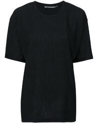 schwarzes T-shirt von Issey Miyake
