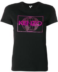 schwarzes T-shirt von Kenzo