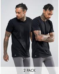 schwarzes T-shirt von Lacoste