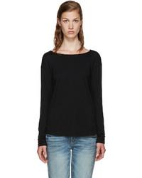 schwarzes T-shirt von Rag & Bone