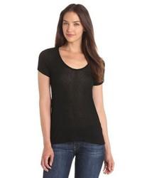 schwarzes T-shirt von Splendid