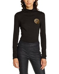 schwarzes T-shirt von Versace