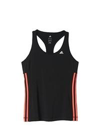 schwarzes Trägershirt von adidas