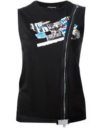 schwarzes Trägershirt von Dsquared2