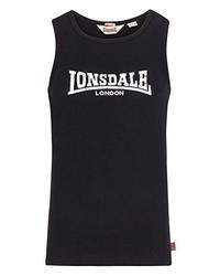 schwarzes Trägershirt von Lonsdale