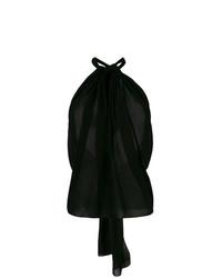 schwarzes Trägershirt von Saint Laurent
