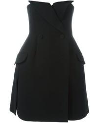 schwarzes Tuxedokleid von Christian Dior