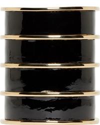 schwarzes und goldenes Armband von Balmain