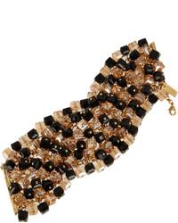 schwarzes und goldenes Armband von Etro