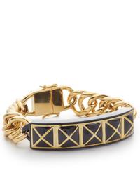 schwarzes und goldenes Armband von Rebecca Minkoff