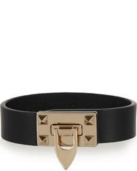 schwarzes und goldenes Armband von Valentino