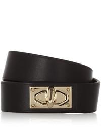 schwarzes und goldenes Lederarmband von Givenchy