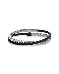 schwarzes und silbernes Armband