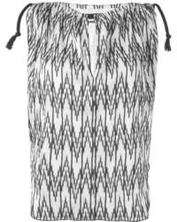 schwarzes und weißes ärmelloses Oberteil mit Chevron-Muster von Isabel Marant