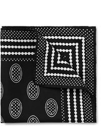 schwarzes und weißes bedrucktes Einstecktuch