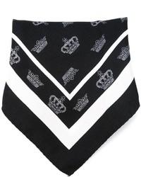 schwarzes und weißes bedrucktes Einstecktuch von Dolce & Gabbana