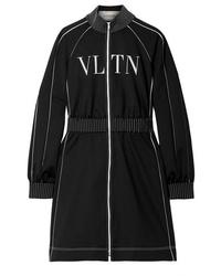 schwarzes und weißes bedrucktes Sweatkleid von Valentino