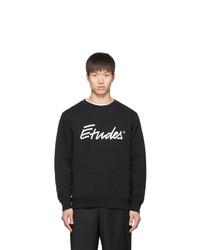 schwarzes und weißes bedrucktes Sweatshirt von Études