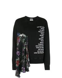 schwarzes und weißes bedrucktes Sweatshirt von EACH X OTHER