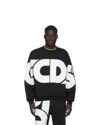 schwarzes und weißes bedrucktes Sweatshirt von Gcds