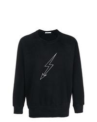 schwarzes und weißes bedrucktes Sweatshirt von Givenchy