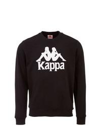 schwarzes und weißes bedrucktes Sweatshirt von Kappa