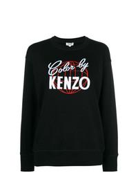 schwarzes und weißes bedrucktes Sweatshirt von Kenzo