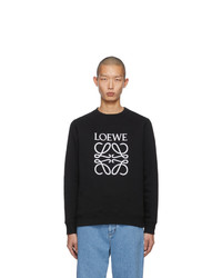 schwarzes und weißes bedrucktes Sweatshirt von Loewe