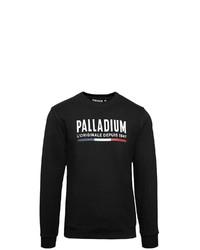 schwarzes und weißes bedrucktes Sweatshirt von Palladium