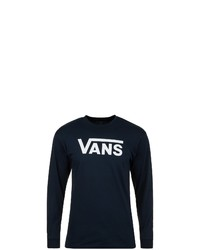schwarzes und weißes bedrucktes Sweatshirt von Vans