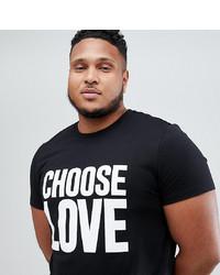 schwarzes und weißes bedrucktes T-Shirt mit einem Rundhalsausschnitt von Help Refugees