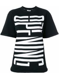 schwarzes und weißes bedrucktes T-Shirt mit einem Rundhalsausschnitt von Opening Ceremony