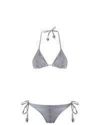 schwarzes und weißes Bikinioberteil von Amir Slama