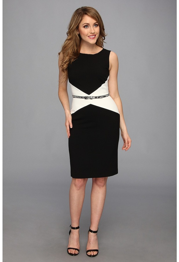 schwarzes und weißes Cocktailkleid von Calvin Klein | Wo zu kaufen ...