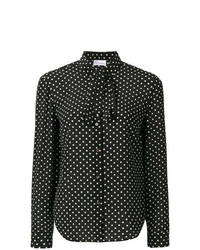 schwarzes und weißes gepunktetes Businesshemd von RED Valentino
