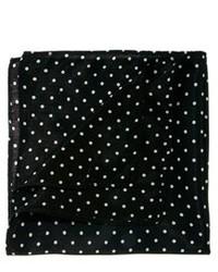 schwarzes und weißes gepunktetes Einstecktuch von Asos