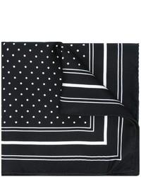 schwarzes und weißes gepunktetes Einstecktuch von Dolce & Gabbana