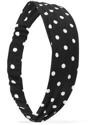 schwarzes und weißes gepunktetes Haarband