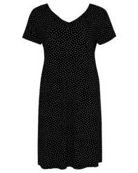 schwarzes und weißes gepunktetes Skaterkleid von Yoek