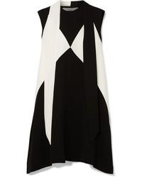 schwarzes und weißes gerade geschnittenes Kleid von Givenchy