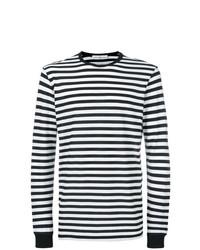 schwarzes und weißes horizontal gestreiftes Langarmshirt von Golden Goose Deluxe Brand