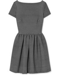 schwarzes und weißes horizontal gestreiftes Skaterkleid von Miu Miu