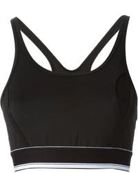 schwarzes und weißes kurzes Oberteil von DKNY