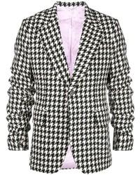 schwarzes und weißes Sakko mit Hahnentritt-Muster von Gucci
