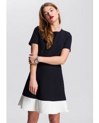 schwarzes und weißes Skaterkleid von Tommy Hilfiger