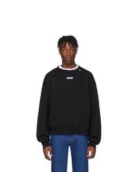 schwarzes und weißes Sweatshirt von Off-White