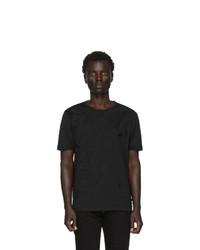 schwarzes und weißes T-Shirt mit einem Rundhalsausschnitt von Fendi